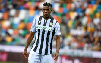 Destiny Udogie (Udinese) portrait  during  Udinese Calcio vs Juventus FC, Italian football Serie A match in Udine, Italy, August 22 2021