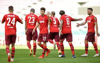 COLOGNE, GERMANY - SEPTEMBER 12: (BILD ZEITUNG OUT) Elvis Rexhbecaj of 1. FC Koeln gestures during the DFB Cup first round match between VSG Altglienicke and 1. FC Koeln at RheinEnergieStadion on September 12, 2020 in Cologne, Germany. (Photo by Ralf Treese/DeFodi Images via Getty Images)