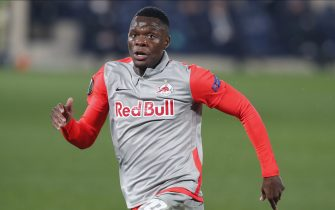 Patson Daka of FC Salzburg during the UEFA Europa League match, round of 32 between VIllarreal CF and FC Salzburg played at La Cerámica Stadium on February 25, 2020 in VIllarreal, Spain. (Photo by PRESSINPHOTO)