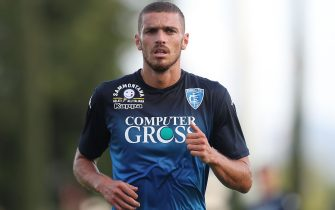 FLORENCE, ITALY - JULY 21: Joel Untersee of Empoli FC in action during the Pre-Season Friendly match between Pro Vercelli and Empoli FC on July 21, 2018 in Florence, Italy.  (Photo by Gabriele Maltinti/Getty Images)