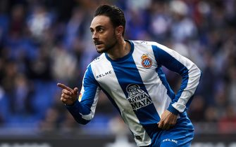 BARCELONA, SPAIN - DECEMBER 16: Sergio Garcia of RCD Espanyol celebrates his goal during the La Liga match between RCD Espanyol and Real Betis Balompie at RCDE Stadium on December 16, 2018 in Barcelona, Spain. (Photo by Quality Sport Images/Getty Images)