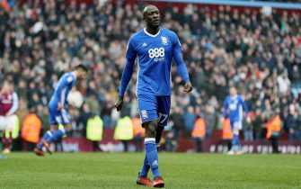 BIRMINGHAM, ENGLAND - FEBRUARY 11: Cheikh Ndoye of Birmingham City walks off the pitch after sent off during the Sky Bet Championship match between Aston Villa and Birmingham City at Villa Park on February 11, 2018 in Birmingham, England. (Photo by James Baylis - AMA/Getty Images)