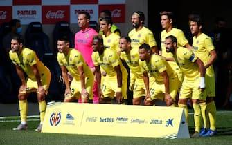 Villarreal CF players during the La Liga match between Villarreal CF and SD Eibar played at La Cerámica Stadium on September 19, 2020 in Villarreal, Spain. (Photo by Omar Arnau / PRESSINPHOTO)