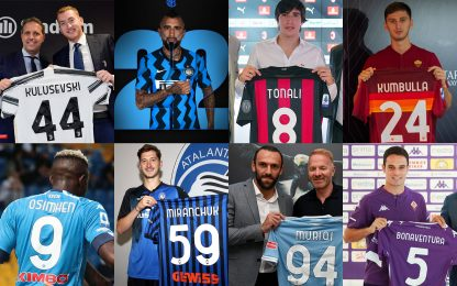 I numeri di maglia dei nuovi acquisti in Serie A