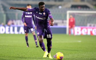 Fiorentina's midfielder Alfred Duncan in action during the Italian Serie A soccer match between ACF Fiorentina and AC Milan  at the Artemio Franchi stadium in Florence, Italy, 22 February 2020ANSA/CLAUDIO GIOVANNINI