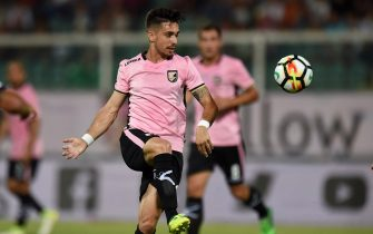 PALERMO, ITALY - AUGUST 06:  Igor Coronado of Palermo in action during the Tim Cup match between US Citta' di Palermo and Virtus Francavilla at Renzo Barbera Stadium on August 6, 2017 in Palermo, Italy.  (Photo by Tullio M. Puglia/Getty Images)
