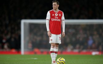 LONDON, ENGLAND - DECEMBER 15: Mesut Ozil of Arsenal during the Premier League match between Arsenal FC and Manchester City at Emirates Stadium on December 15, 2019 in London, United Kingdom. (Photo by Robin Jones/Getty Images)
