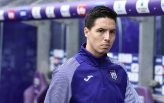 BRUSSELS, BELGIUM - JULY 28: Samir Nasri of Anderlecht during the Jupiler Pro League match between RSC Anderlecht and KV Oostende at Lotto Park on July 28, 2019 in Brussels, Belgium. (Photo by Johan Eyckens/Isosport/MB Media/Getty Images)