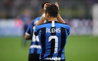 Alexis Sanchez of Inter applauds during the Serie A match at Stadio San Siro, Milan. Picture date: 14th September 2019. Picture credit should read: Jonathan Moscrop/Sportimage via PA Images