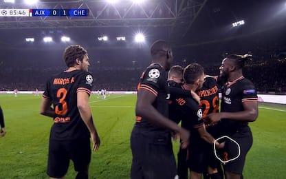 Batshuayi gol, l'esultanza hot di Jorginho. VIDEO