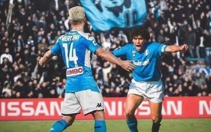 "Mertens fa festa con Diego. Hamsik: ""Grande Dries"""