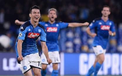 Lozano risponde a Haaland, 1-1 Napoli-Salisburgo