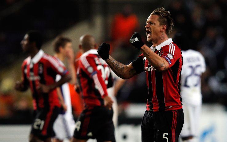Mexes in Anderlecht-Milan del 2012