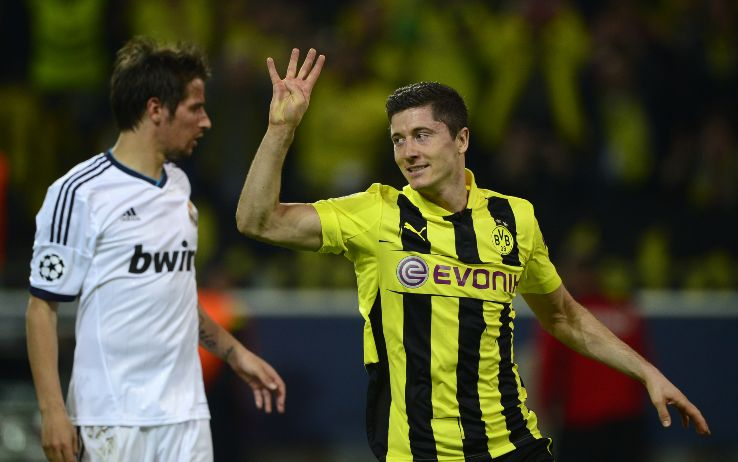 Lewandowski e il poker in Dortmund-Real della semifinale 2013