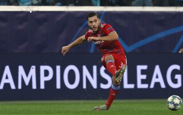 SAINT PETERSBURG, RUSSIA - NOVEMBER 27: Rayan Cherki of Lyon passes the ball during the UEFA Champions League group G match between Zenit St. Petersburg and Olympique Lyon at Gazprom Arena on November 27, 2019 in Saint Petersburg, Russia. (Photo by Mike Kireev/MB Media/Getty Images)