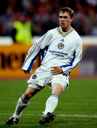 21 Apr 1999:  Serhii Rebrov of Dynamo Kyiv during the UEFA Champions League semi-final second leg match against Bayern Munich at the Olympiastadion in Munich, Germany. Bayern won 1-0 on the night to go through 4-3 on aggregate. \ Mandatory Credit: Mark Thompson /Allsport
