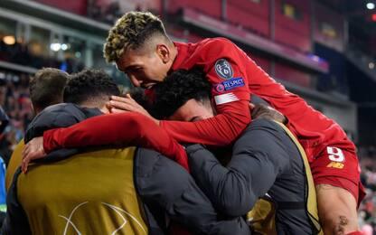 Liverpool, 2-0 al Salisburgo: 1° davanti al Napoli