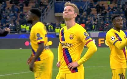 Ajax eliminato, De Jong non la prende bene. VIDEO