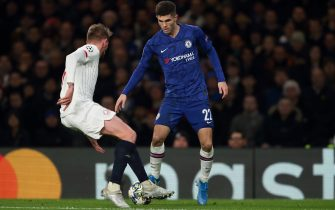 LONDON, ENGLAND - DECEMBER 10: Christian Pulisic of Chelsea during the UEFA Champions League group H match between Chelsea FC and Lille OSC at Stamford Bridge on December 10, 2019 in London, United Kingdom. (Photo by James Williamson - AMA/Getty Images)