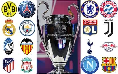 Champions League, date e orari degli ottavi