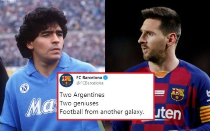 Barça a Napoli nel segno di Leo e Diego. VIDEO