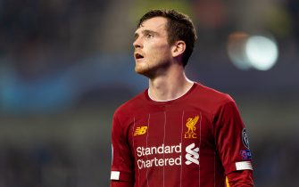 GENK, BELGIUM - OCTOBER 23: Andrew Robertson of FC Liverpool looks on during the UEFA Champions League group E match between KRC Genk and Liverpool FC at Luminus Arena on October 23, 2019 in Genk, Belgium. (Photo by TF-Images/Getty Images)