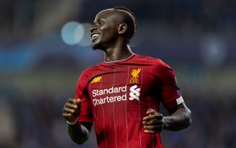 GENK, BELGIUM - OCTOBER 23: Sadio Mane of FC Liverpool celebrates after scoring his team's third goal during the UEFA Champions League group E match between KRC Genk and Liverpool FC at Luminus Arena on October 23, 2019 in Genk, Belgium. (Photo by TF-Images/Getty Images)