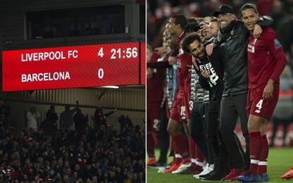 Capolavoro Reds: due anni fa il 4-0 al Barça