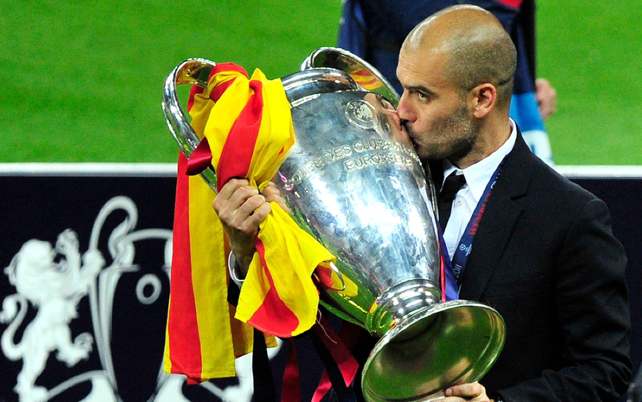 Pep Guardiola ha vinto due volte la Champions League da allenatore, entrambe col Barcellona nel 2009 e nel 2011