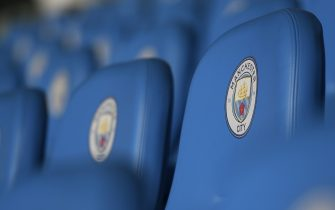 MANCHESTER, ENGLAND - OCTOBER 16: A detailed view of the stadium seats prior to the UEFA Women's Champions League Round of 16 First Leg match between Manchester City Women and Atletico Madrid Femenino at The Academy Stadium on October 16, 2019 in Manchester, England. (Photo by George Wood/Getty Images)
