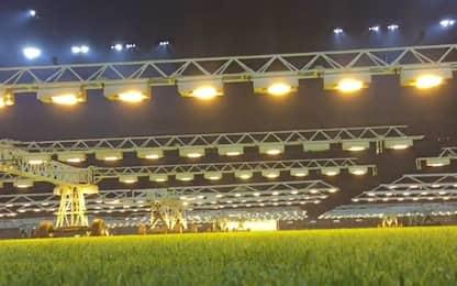 Troppe gare a S. Siro: luce artificiale per l'erba