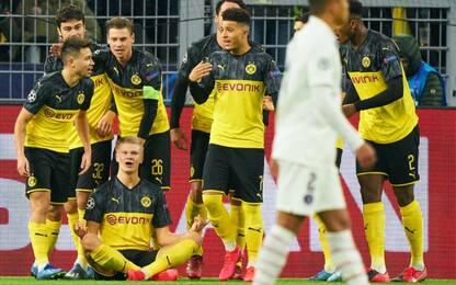Ciclone Haaland si abbatte sul Psg: 2-1 Borussia