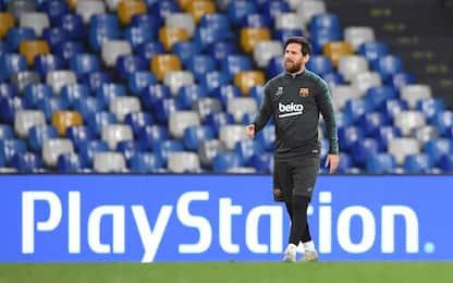 """Napoli-Barça, Messi """"debutta"""" al San Paolo. FOTO"""