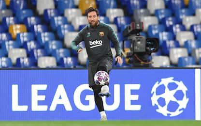 Messi entra al San Paolo: l'emozione di Leo. VIDEO