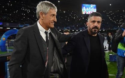 """Setien, cena con Gattuso: """"Lo aspetto in Spagna"""""""