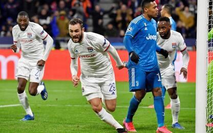 La Juve inciampa a Lione: ko 1-0, decide Tousart