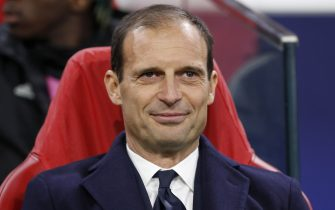 coach Massimiliano Allegri of Juventus FC during the UEFA Champions League quarter final match Ajax Amsterdam and Juventus FC at the Johan Cruijff Arena on April 10, 2019 in Amsterdam, The Netherlands(Photo by VI Images via Getty Images)