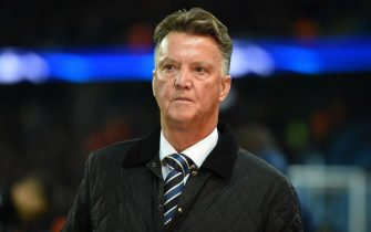 Dutch football manager Louis van Gaal is seen on the touchline ahead of the UEFA Champions League Group F football match between Manchester City and Feyenoord at the Etihad Stadium in Manchester, north west England, on November 21, 2017. / AFP PHOTO / Oli SCARFF        (Photo credit should read OLI SCARFF/AFP via Getty Images)