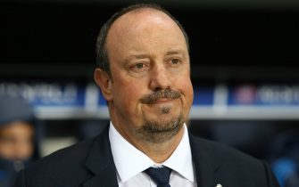PARIS, FRANCE - OCTOBER 21: Coach of Real Madrid Rafael Benitez looks on during the UEFA Champions League match between Paris Saint-Germain (PSG) and Real Madrid at Parc des Princes stadium on October 21, 2015 in Paris, France. (Photo by Jean Catuffe/Getty Images)