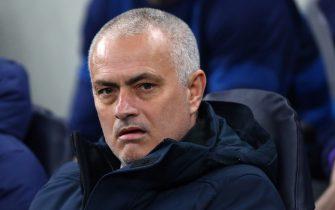 LONDON, ENGLAND - FEBRUARY 19: Tottenham Manager José Mourinho during the UEFA Champions League round of 16 first leg match between Tottenham Hotspur and RB Leipzig at Tottenham Hotspur Stadium on February 19, 2020 in London, United Kingdom. (Photo by Chloe Knott - Danehouse/Getty Images)