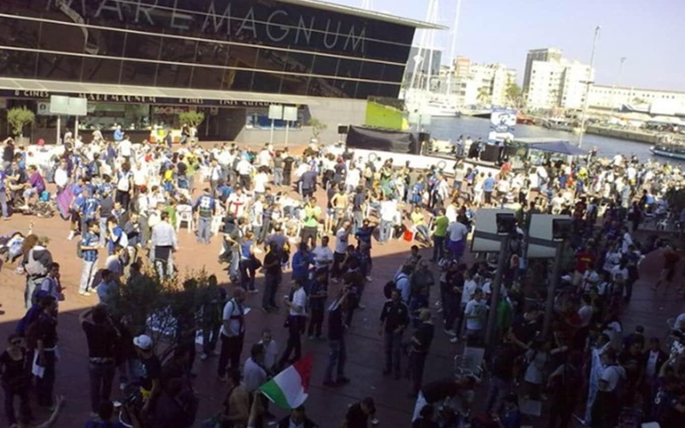 Il 28 aprile del 2010 una marea di tifosi interisti invade Barcellona
