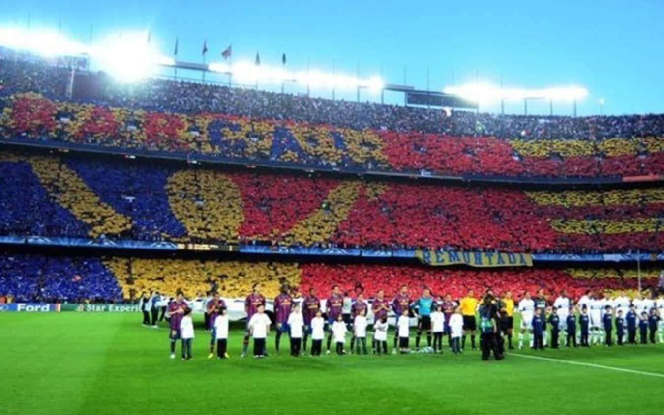 "La bolgia del Camp Nou al grido di ""Remuntada"""