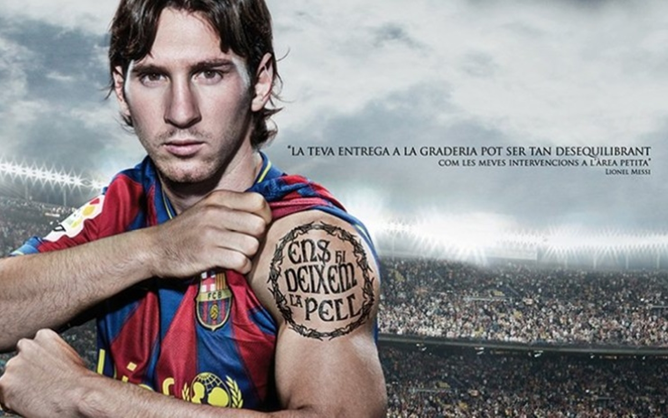 "Il tattoo di Messi in catalano: ""Venderemo cara la pelle"""