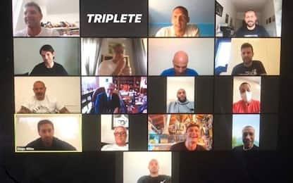 Inter, chat di gruppo per gli eroi del Triplete