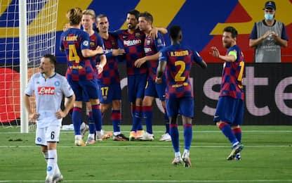 Napoli, niente impresa: il Barça vince 3-1 e passa