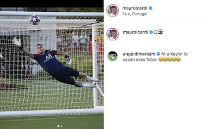 Icardi show in allenamento: che parata su Neymar!