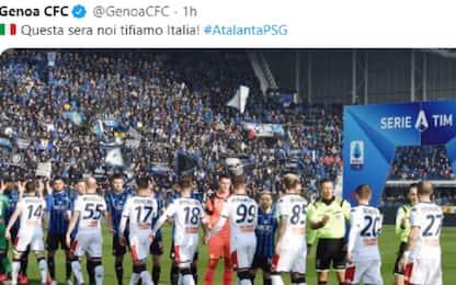 """Tifiamo Atalanta"": messaggio speciale dal Genoa"