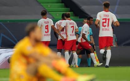 Lipsia-show: batte l'Atletico 2-1, è in semifinale