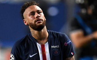 epa08620909 Neymar of PSG after the UEFA Champions League final between Paris Saint-Germain and Bayern Munich in Lisbon, Portugal, 23 August 2020. PSG lost 0-1.  EPA/David Ramos / POOL