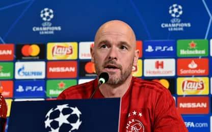 """Ajax, Ten Hag: """"L'Atalanta ha mentalità europea"""""""